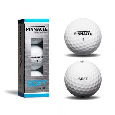 Мяч для гольфа Pinnacle Soft арт. P5011S-BIL 3шт белый