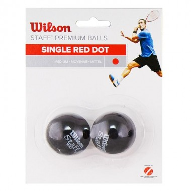Мяч для сквоша Wilson Staff Red арт. WRT617700