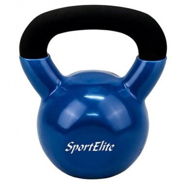 Гиря чугунная для кроссфита с виниловым покрытием SportElite 12 кг