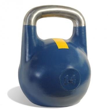 Гиря чемпионская Titan 14 кг (синяя с желтой полосой)