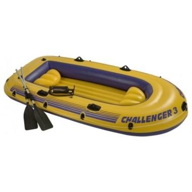 Лодка надувная трёхместная Intex Challenger-3 Set (68370)