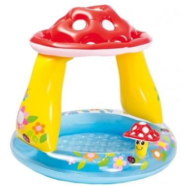 Надувной детский бассейн Intex Mushroom Baby 57114 (102x89см)