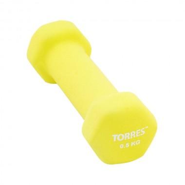 Гантель неопреновая Torres 0,5 кг арт.PL550105
