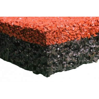 Плитка из резиновой крошки CR 93 (500*500*30 мм) Бордо