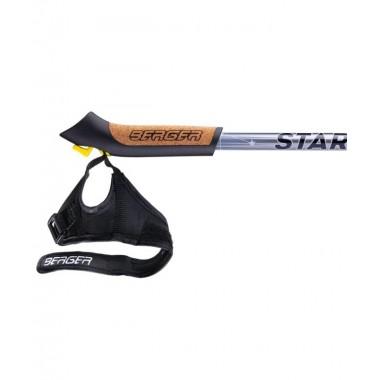Палки для скандинавской ходьбы Berger Starfall 77-135 см 2-секционные, серый/чёрный/белый
