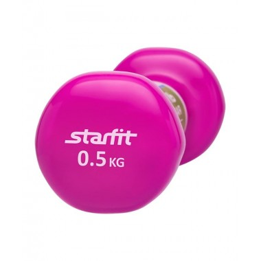 Гантель виниловая StarFit DB-101 0,5 кг розовая