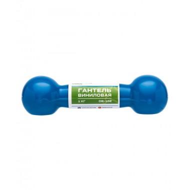 Гантель виниловая StarFit DB-102 1 кг голубая