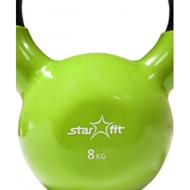 Гиря чугунная с виниловым покрытием StarFit DB-401 8 кг зеленая