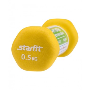 Гантель неопреновая StarFit DB-201 0,5 кг песочная