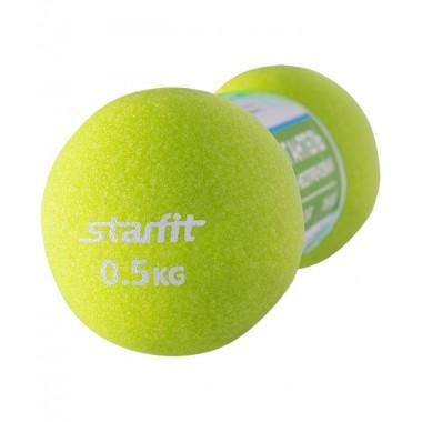 Гантель неопреновая StarFit DB-202 0,5 кг салатовая