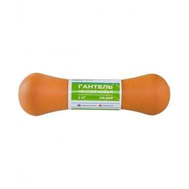 Гантель неопреновая StarFit DB-202 1 кг оранжевая