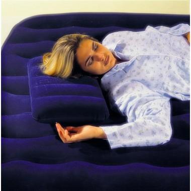 Надувная подушка INTEX флокированная