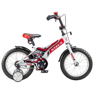 Велосипед детский STELS Jet 14 (2018) рама 8,5 белый/красный