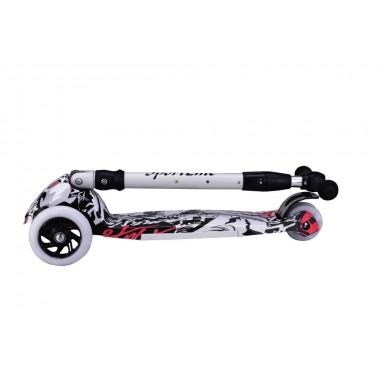 Самокат 4-х колесный SportElite SE420 граффити