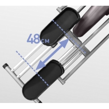 Эллиптический тренажер (эргометр) Oxygen GX-75 HRC