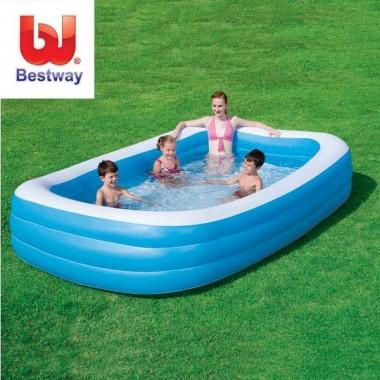 Бассейн Bestway 54009 надувной прямоугольный, 305х183х56см