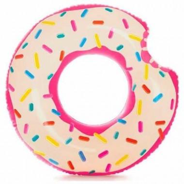 Надувной круг пончик Intex 56265NP Donut Tube 107см 9+