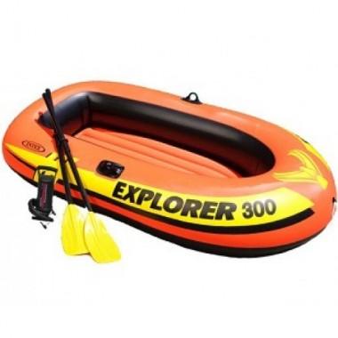 Лодка надувная трехместная Intex 58332NP Explorer-300-Set