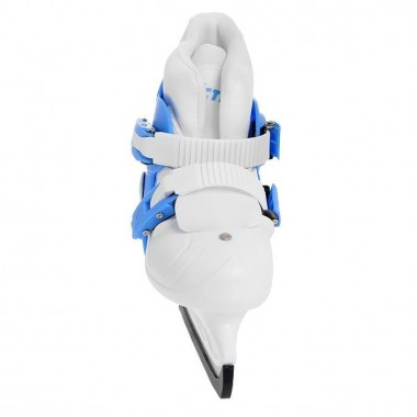 Коньки ледовые раздвижные Action (голубой/белый) PW-219-2 р.33-36