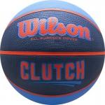 Мяч баскетбольный WILSON Clutch арт.WTB14197XB07 р.7 резина, бутил. камера, сине-оранжевый