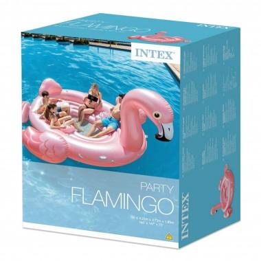 Надувной остров Intex 57267 Фламинго (422х373х185см)