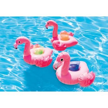 Надувные подстаканники Intex 57500 Фламинго (33х25 см, 3 шт)