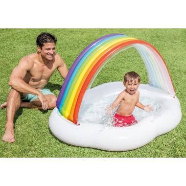 Бассейн надувной детский с навесом Intex 57141 Облако (142х119х84см) 1-3 года