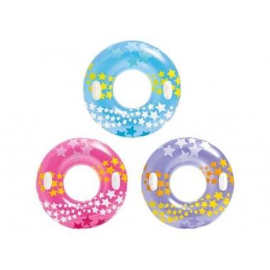 Надувной круг Intex 59256 с ручками (91см) 9+