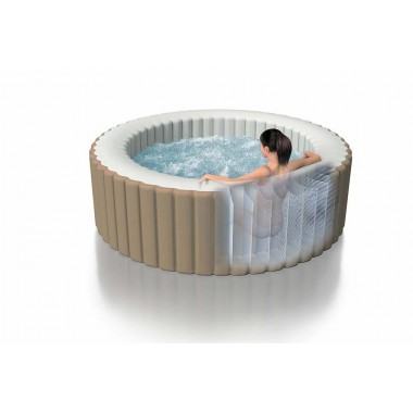 Надувной бассейн джакузи Intex 28404 PureSpa Bubble Massage (196х71см)