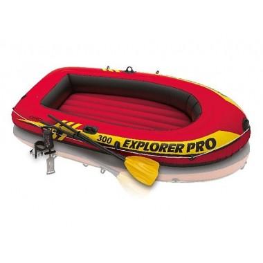 Надувная лодка Intex 58358 Explorer Pro 300 Set + весла + насос