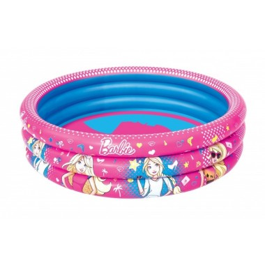 Детский круглый бассейн Bestway 93205 Barbie (122х30см) 2+