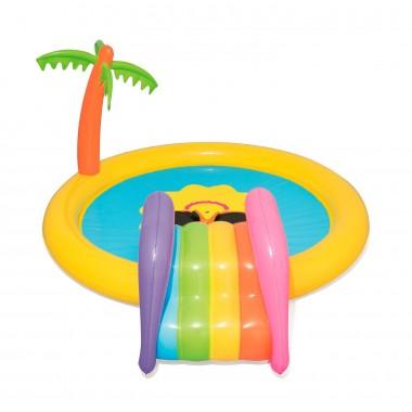 Игровой центр бассейн с горкой и фонтаном BestWay 53071