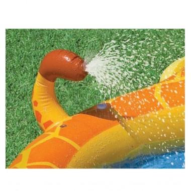 Надувной детский бассейн с фонтанчиком Intex 57434NP Giraffe Spray Pool 3+