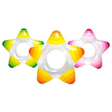 Круг надувной для плавания Intex 59243NP Star Ring (74х71см)