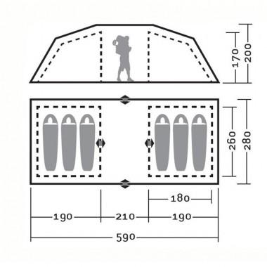 Палатка Greenell Виржиния 6 квик (коричневый)