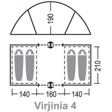 Палатка Greenell Виржиния 4 v.2 (зеленый)