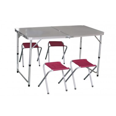 Набор для кемпинга (стол, 4стула) IK-080