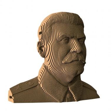 Большой сборный картонный бюст Сталин