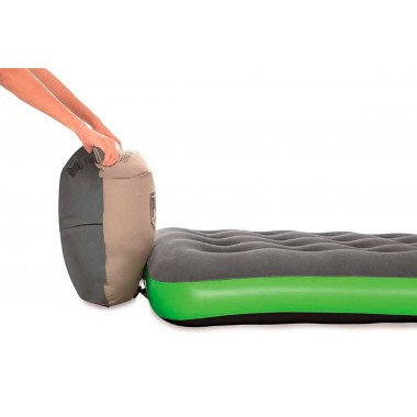 Кемпинговый одноместный надувной матрас Bestway 67619 Roll & Relax (188х99х22см)