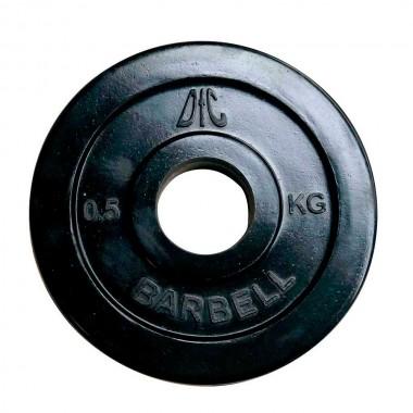 Диск обрезиненный чёрный DFC WP021 d-31 мм 0,5 кг