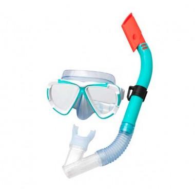 Маска и трубка для плавания BestWay 24053 Dive Mira, 14+ (бирюзовый)