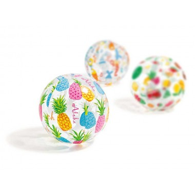 Надувной мяч Intex 59040NP Lively Print Ball (51см, 3+) ананас