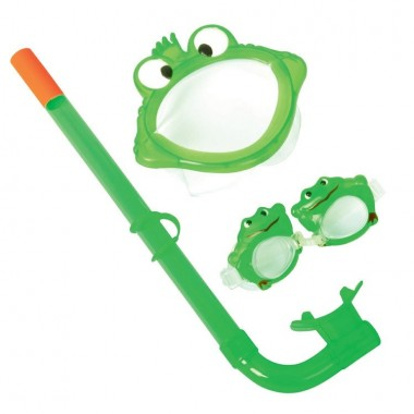 Набор для плавания Bestway 24019 (маска, трубка, очки) 3+ зеленый