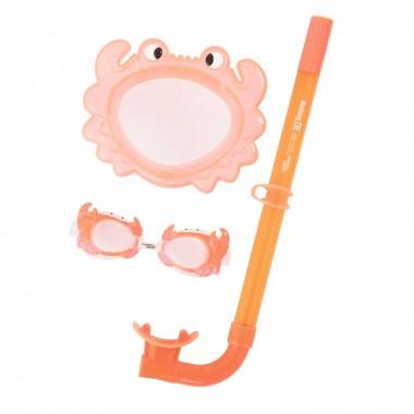 Набор для плавания Bestway 24019 (маска, трубка, очки) 3+ оранжевый