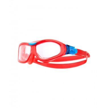 Маска для плавания детская TYR Orion Swim Mask Kids, LGORNK/158, красный