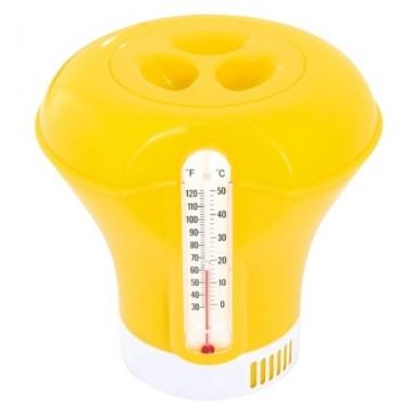 Поплавок дозатор химии с термометром Bestway 58209 желтый