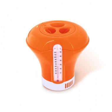 Поплавок дозатор химии с термометром Bestway 58209 оранжевый