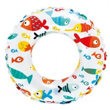 Круг для плавания Intex 59241 Lively Print Swim Ring 61 см (6-10 лет)