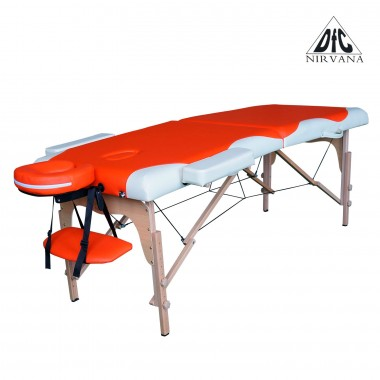 Массажный стол DFC NIRVANA Relax оранжевый / кремовый