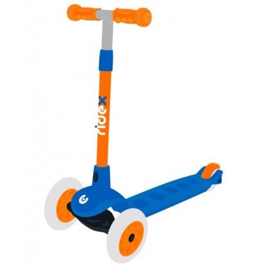 Самокат 3-колесный Ridex Hero, 120/80 мм, синий/оранжевый